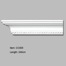 European Style PU Crown Moldings with Rope Design